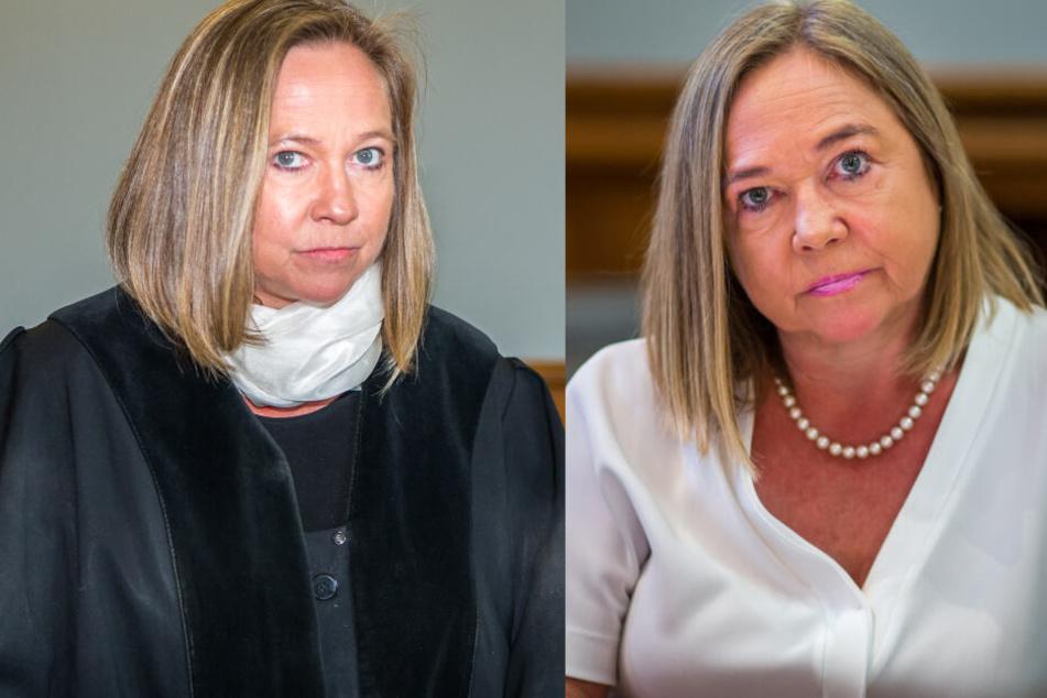 Schwarz-Weiß: Zwischen diesen Fotos liegen fast exakt vier Jahre: Oberstaatsanwältin Elke Müssig links als Anklägerin, rechts als Angeklagte.