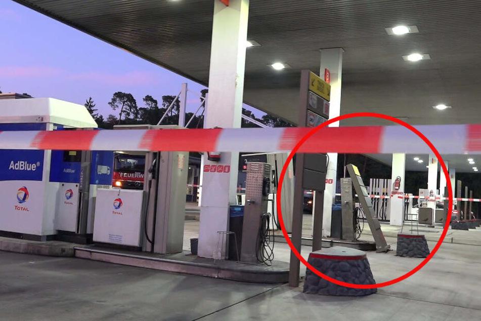 Brummi-Fahrer rammt Zapfsäule: Seine Reaktion ist einfach nur dreist