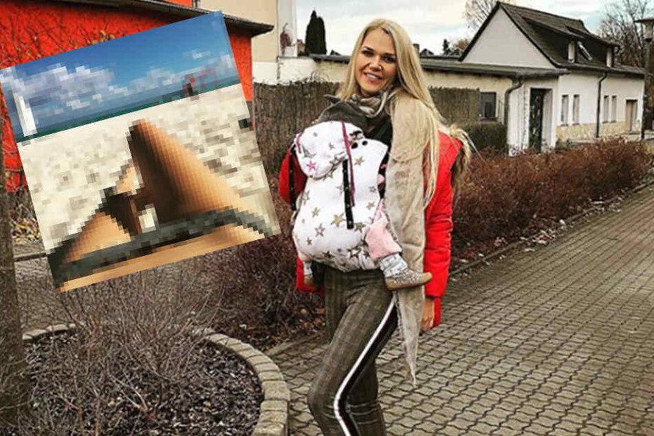 Steht zu ihrer Kaiserschnittnarbe: Model Sara Kulka (27).