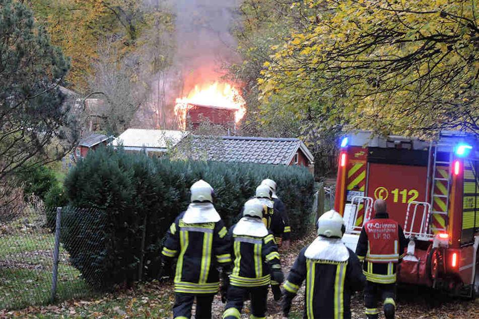 Am Sonntagnachmittag fing die Gartenlaube aus noch ungeklärter Ursache Feuer.
