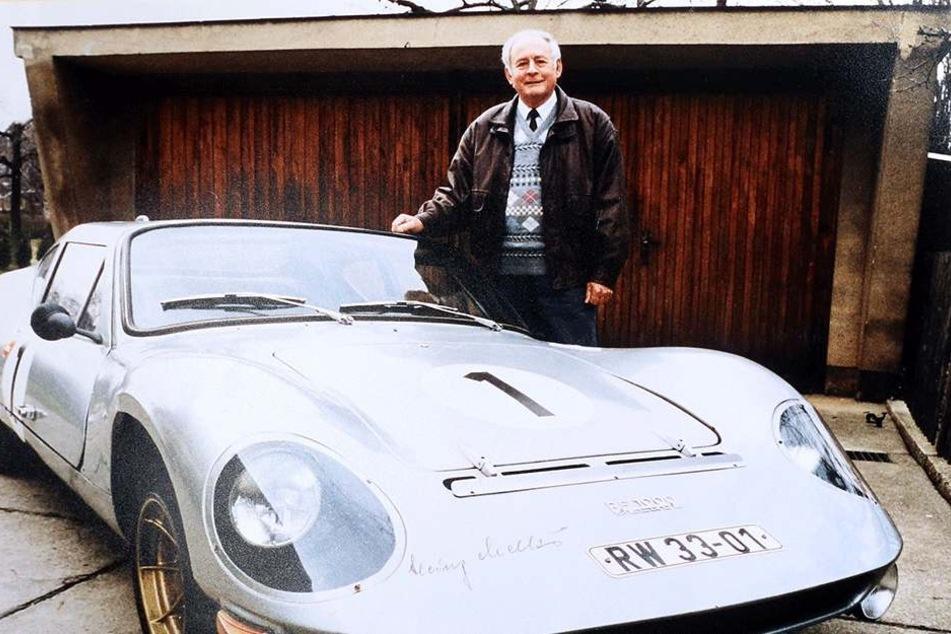 Heinz Melkus (1928-2005) mit einem RS1000.