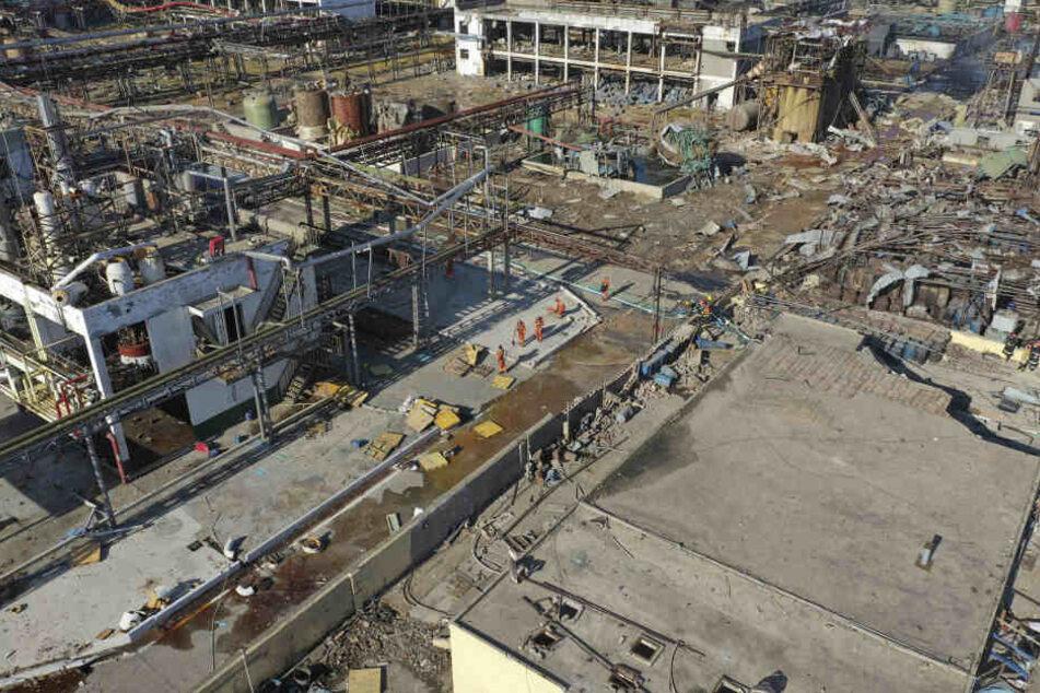 44 Menschen kamen bei dem Unglück in der Stadt Yancheng (Provinz Jiangsu) ums Leben.