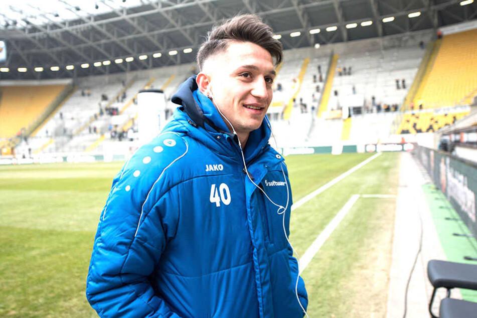 Das DDV-Stadion kennt Baris Atik schon - im März spielte er hier mit Darmstadt.