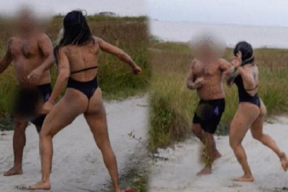 Bilder auf Twitter zeigen die Prügelattacke.