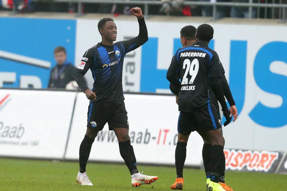 Antwi Adjei jubelte nach seinem Treffer gegen Heidenheim.