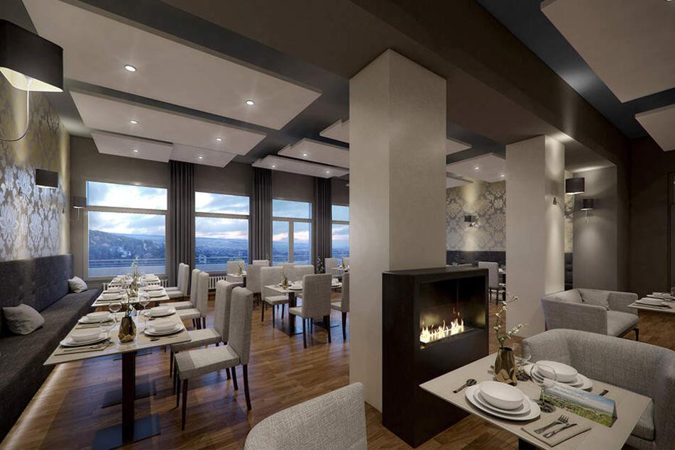 So soll der neue Gastraum mit Kamin aussehen. Vielleicht schon in zwei Wochen können die ersten Gäste hier Platz nehmen.