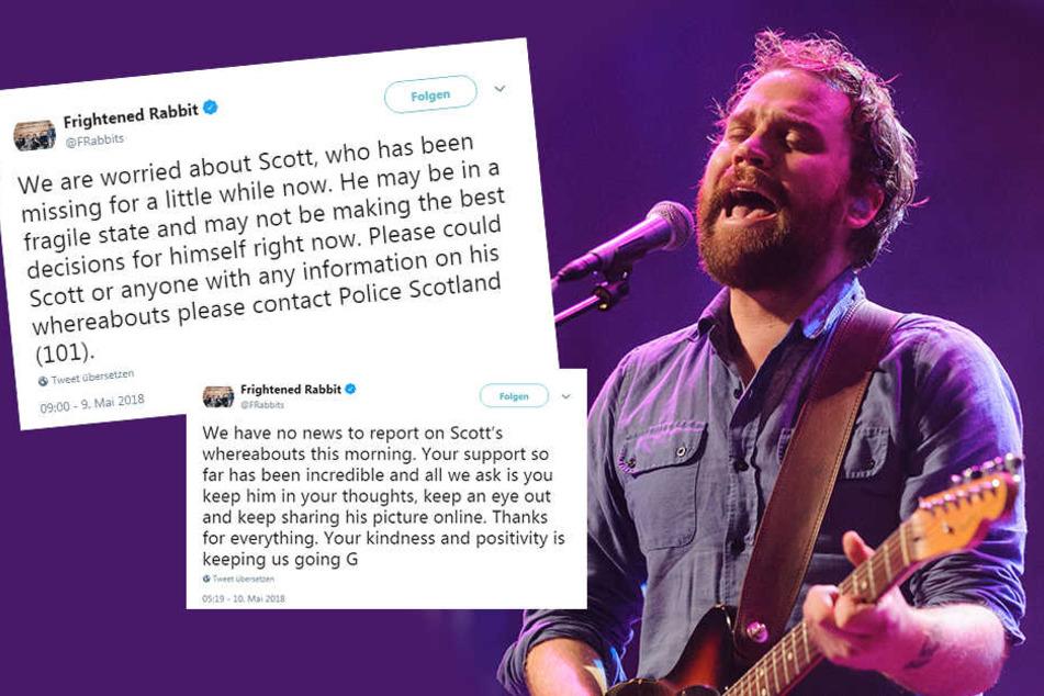 Bandmitglieder und Fans bangen um Scott Hutchison. Hat sich der Musiker womöglich etwas angetan?