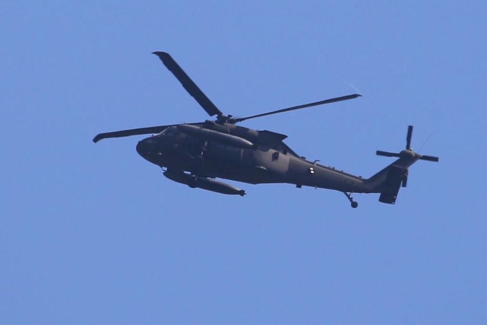Das Foto dieser Militär-Kampfmaschine entstand am Dienstagnachmittag gegen 15:45 Uhr.