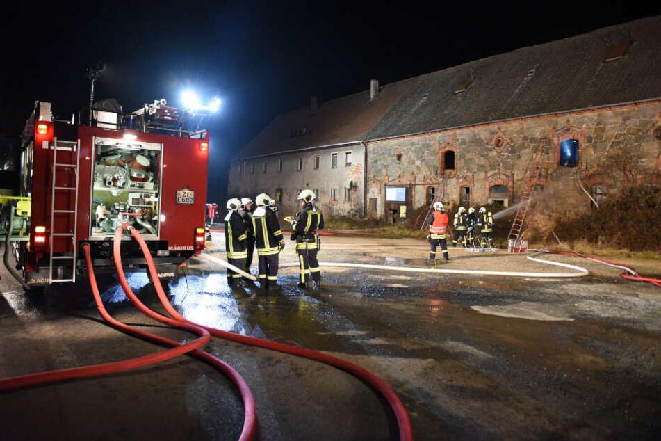 Die Feuerwehr konnte die Scheune in Zittau löschen.