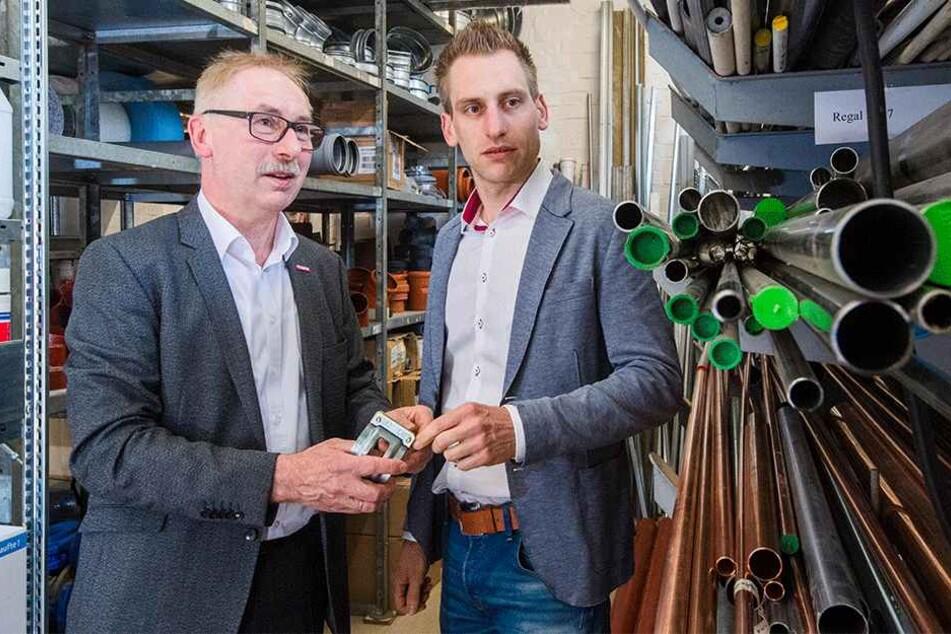 Das Handwerk brummt. Auch Dietmar Borchers (62), geschäftsführernder Gesellschafter der Wetabo GmbH und sein Sohn Norman Borchers haben gut zu tun.