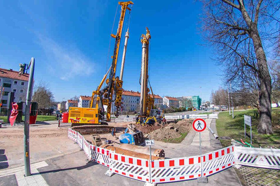 Ab Montag kommt es in der Zschopauer Straße Einmündung Bahnhofstraße zu weiteren Einschränkungen. Schon seit März wird zwischen Ritterstraße und Annenstraße gebaut.