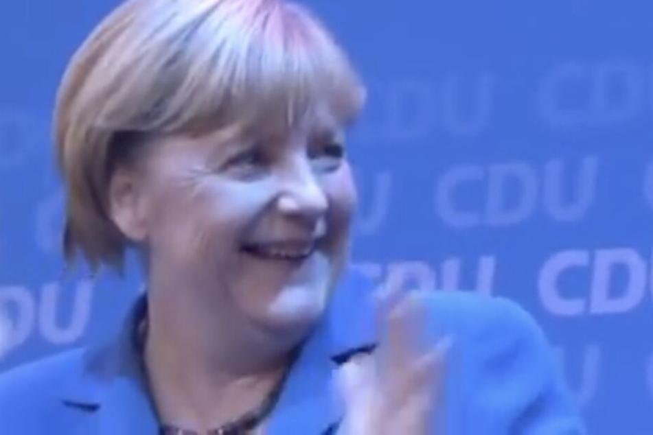 Angela Merkel feierte 2013 den CDU-Sieg bei der Bundestagswahl frenetisch - zum Leid der Toten Hosen.