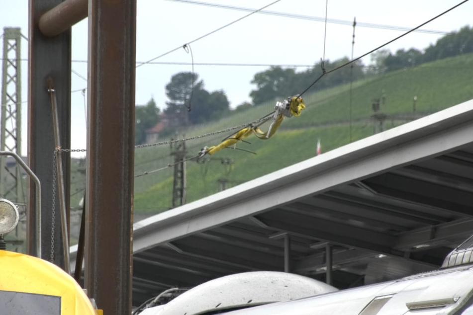 Am Sonntag sorgte eine gerissene Oberleitung für stundenlangen Stillstand am Würzburger Bahnhof.