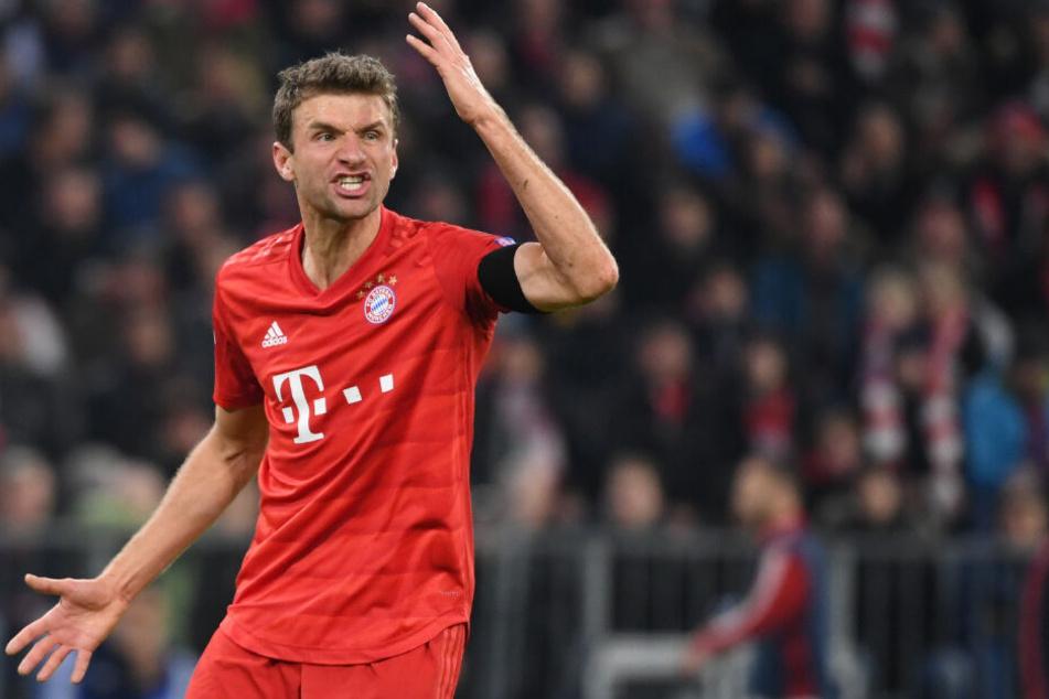 Thomas Müller vom FC Bayern München. Auch der deutsche Rekordmeister würde wohl mitspielen in der Sommervariante der Champions League.
