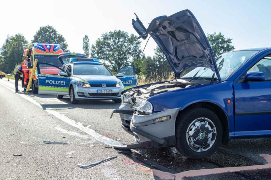Heftiger Crash: Fünf Verletzte, darunter zwei Kinder