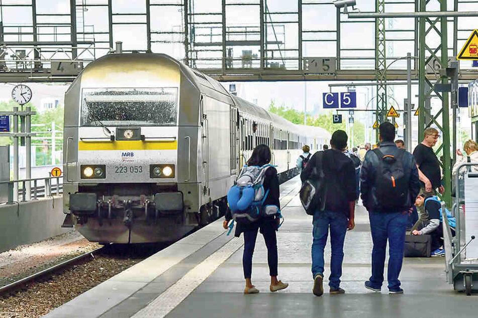 MRB-Züge sind von den Gleis-Bauarbeiten und Brückenerneuerungen der Deutschen Bahn betroffen.