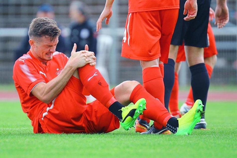 Das tat weh. Alexander Sorge im Testspiel gegen Nordhausen.