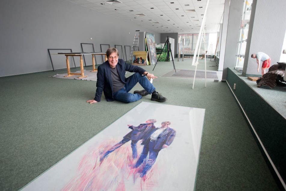 Galerist Bernd Weise (62) richtet sich in einem ehemaligen Laden am Rosenhof neu ein. Am 25. April öffnet dort sein Kunstsalon.