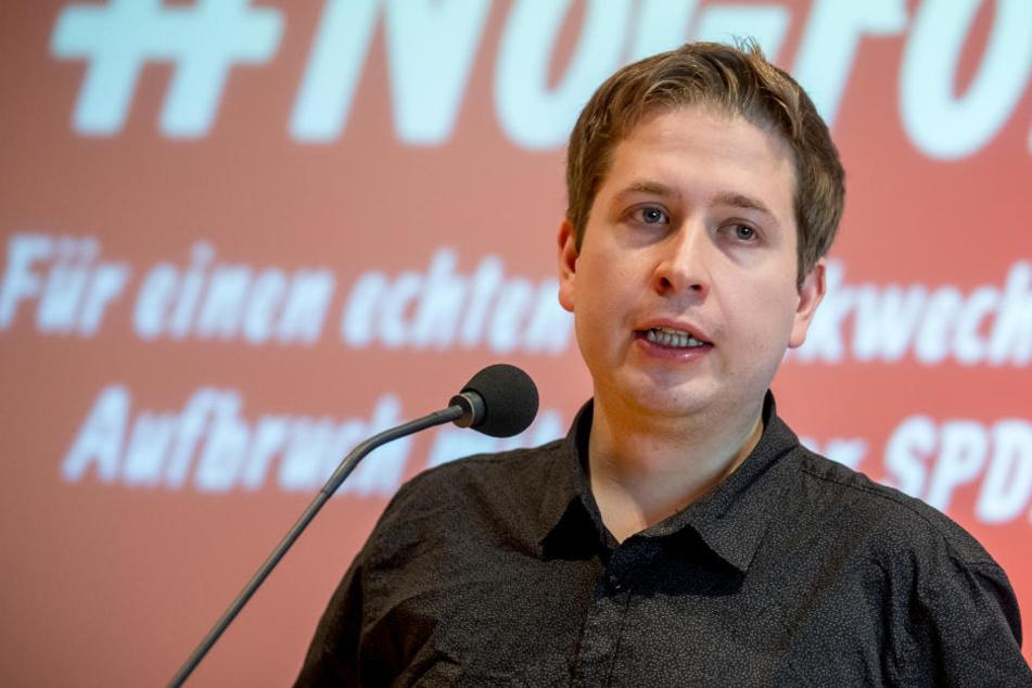 Ist Ende Februar in Baden-Württemberg: Kevin Kühnert.