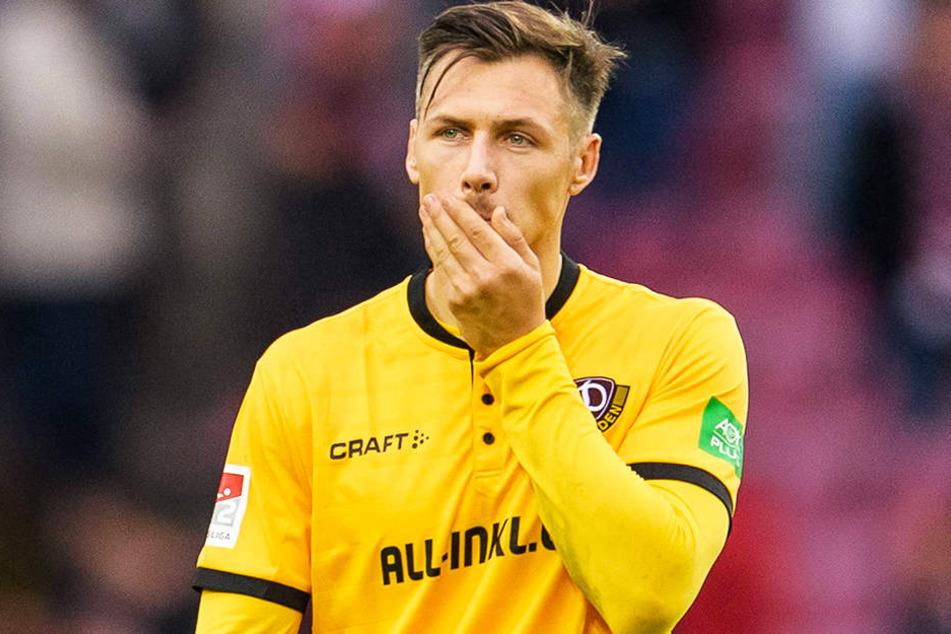 Auch Sören Gonther war nach der bitteren 1:8-Klatsche der Dresdner Dynamos beim 1. FC Köln geschockt, hat die aber abgehakt. Gegen Ingolstadt will der 31-Jährige seine Abwehr besser organisieren.