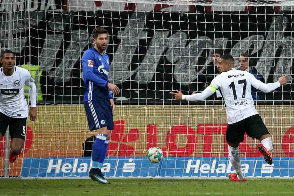Eiskalt: Sebastien Haller (links) traf mit seiner ersten großen Gelegenheit zum 2:0.
