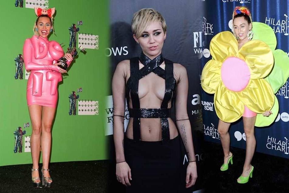 Miley Cyrus ist bekannt für ihre ausgefallenen Outfits.