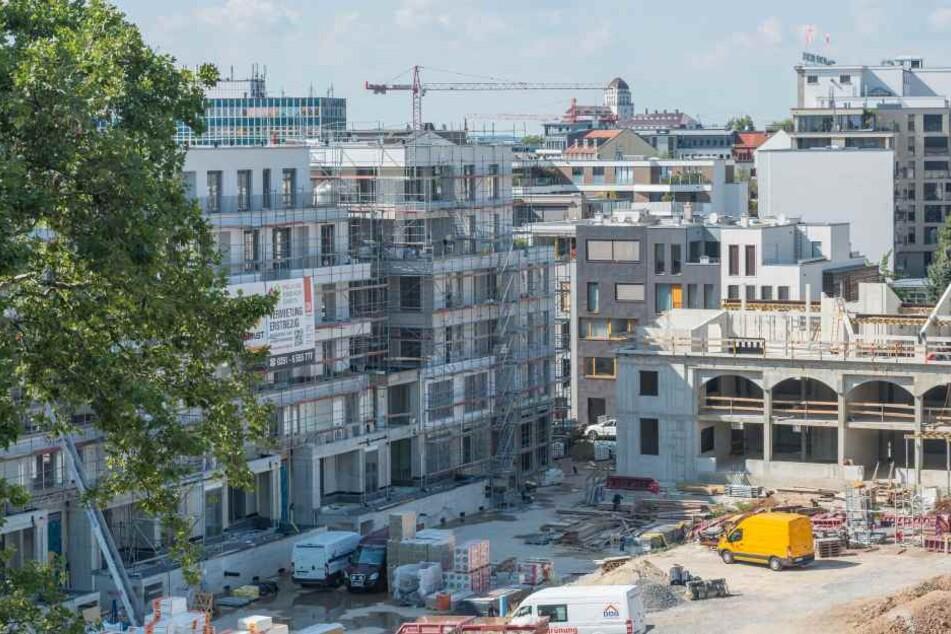 In Dresden wird momentan fleißig gebaut, wie hier am Herzogin-Garten.