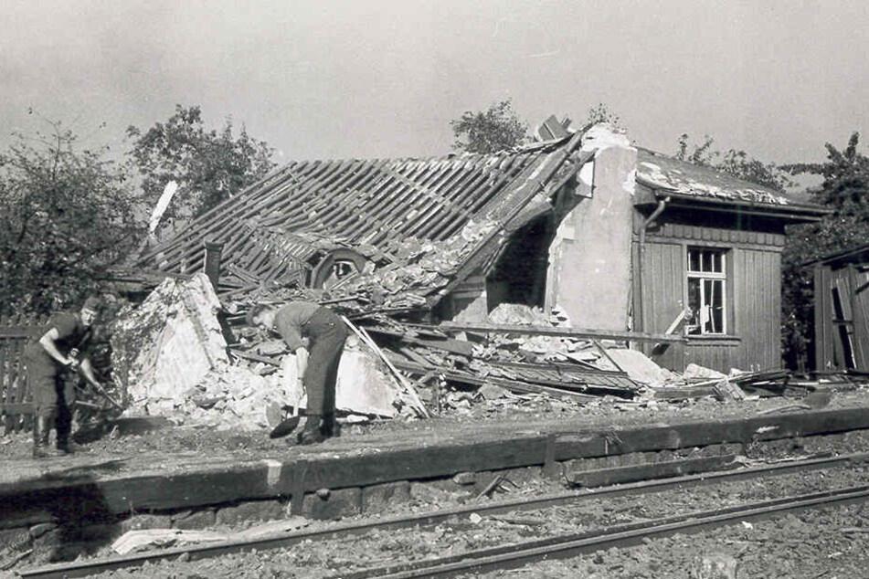 Als Freital im Krieg zerstört wurde