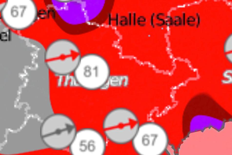Für Thüringen liegt eine Warnung vor Orkanböen vor.