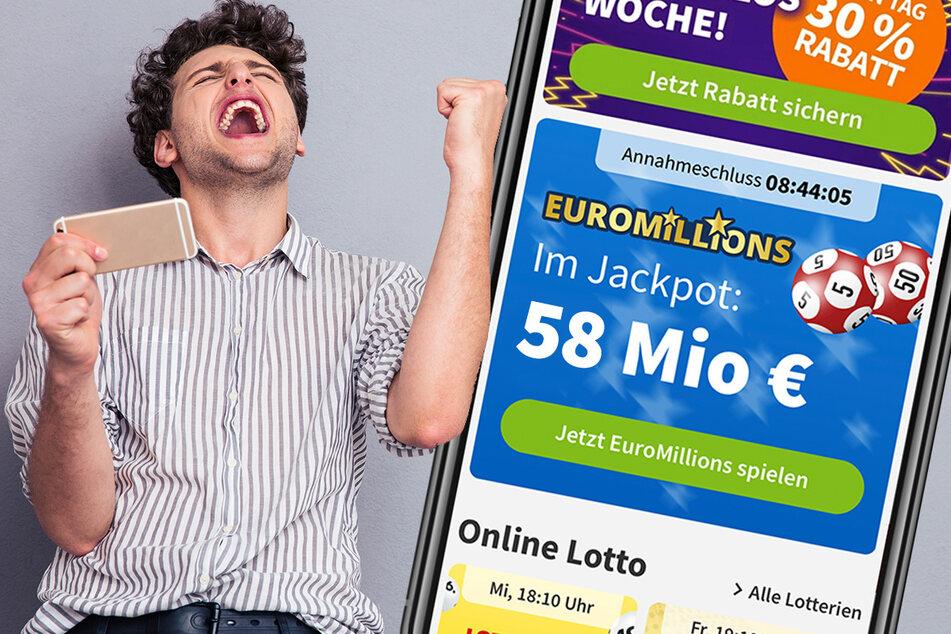 Am Freitag (16.4.) liegen bei EuroMillions 58 Mio. Euro im Jackpot