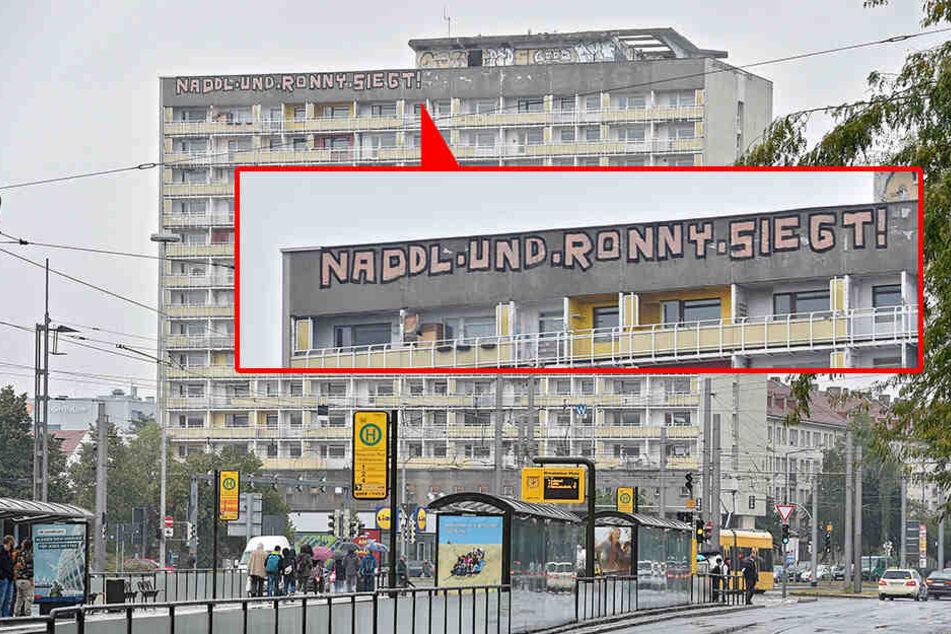 """Dresden: Was machen """"Naddl & Ronny"""" am Gammel-Hochhaus?"""