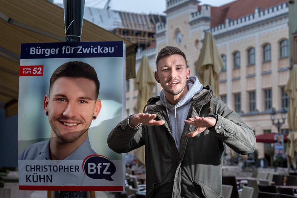Vor wenigen Monaten kandidierte Christopher Kühn (29) für den Stadtrat. Jetzt wurde er zum BfZ-Fraktions-Chef gewählt.