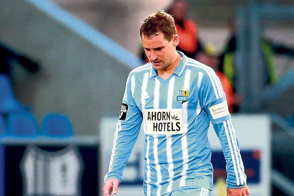 Beim Torjäger a. D. geht der Kopf runter - Anton Fink traf zuletzt im Dezember für den CFC.