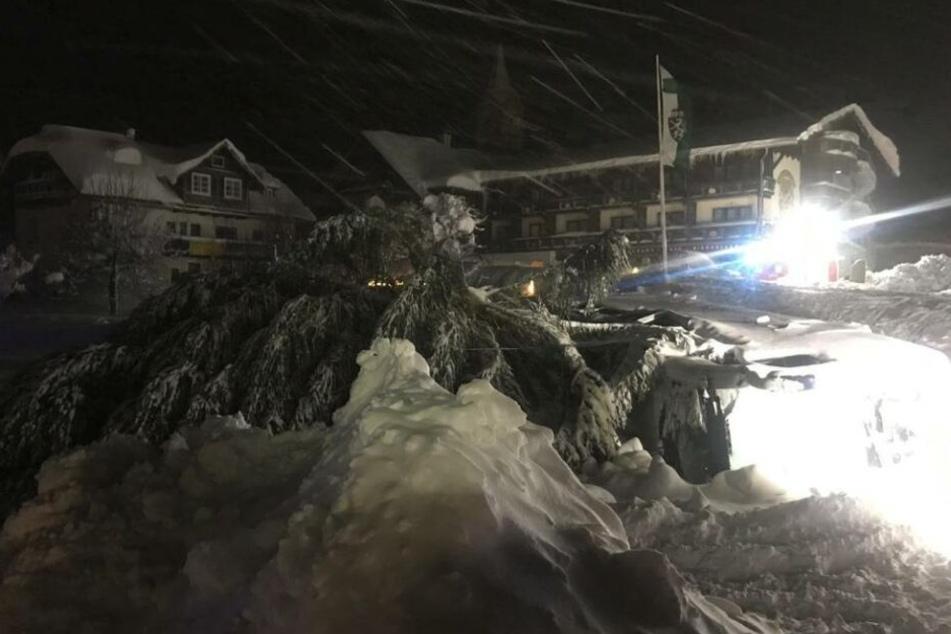 Menschen evakuiert: Nächtliche Lawine begräbt Hotel unter sich