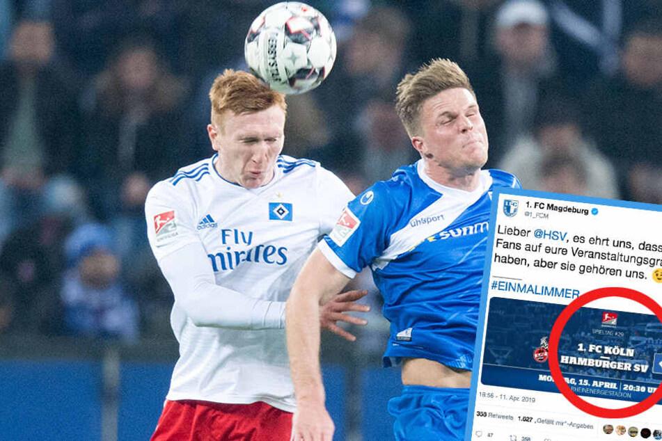 Der HSV musste zuletzt eine bittere Niederlage gegen Magdeburg einstecken. Nun warb der Verein mit den gegnerischen Fans.