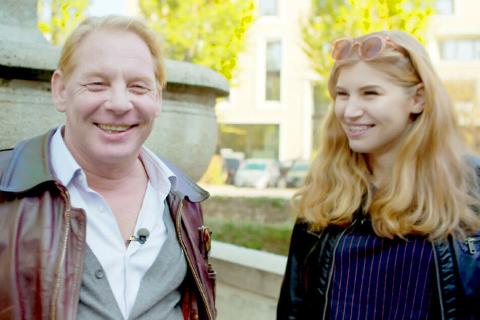 """Ben Becker (54) und seine Tochter Lilith (19) in der VOX-Show """"7 Töchter""""."""
