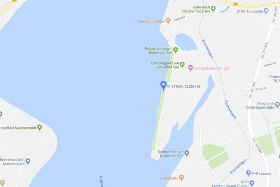 In der Nähe des Campingplatzes am Kulkwitzer See ereignete sich der Unfall.