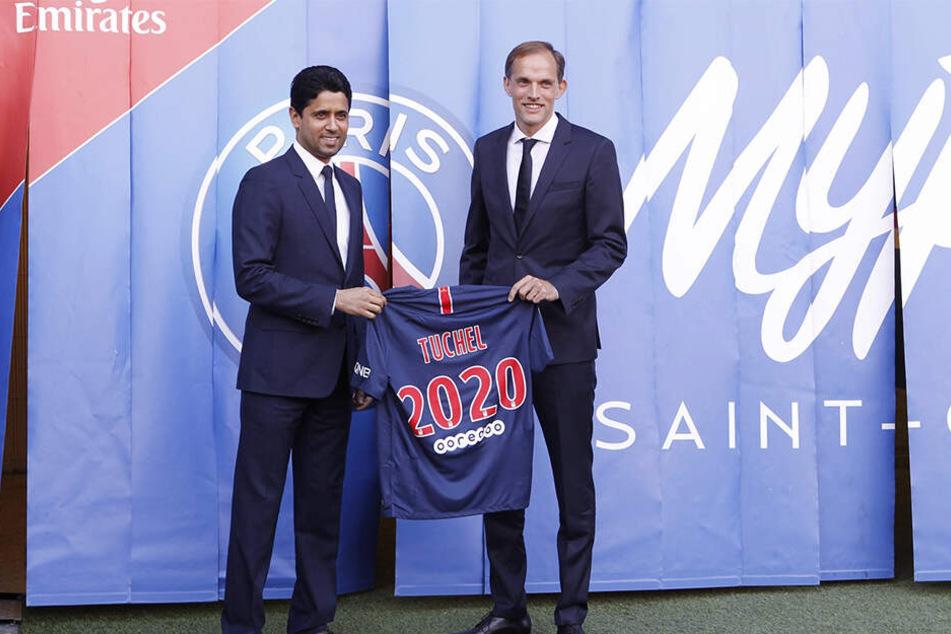 Angeblich soll PSG-Coach Thomas Tuchel heute seinen Präsidenten Nasser Al-Khelaifi mitbringen.