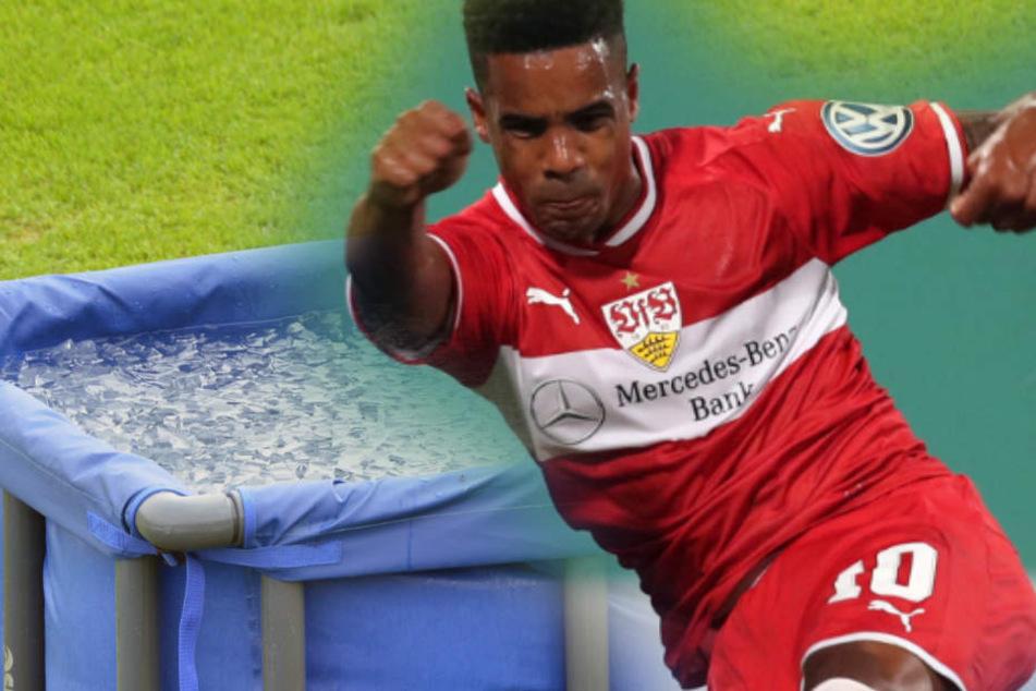 VfB-Star Mario Gomez wollte Didavi (Bild) zur Genesung in die Eistonne schicken. (Fotomontage)