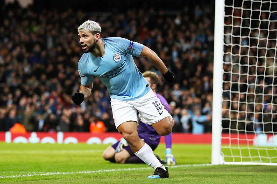 """Sergio """"Kun"""" Agüero erzielte für Manchester City einen Doppelpack gegen den FC Schalke 04."""