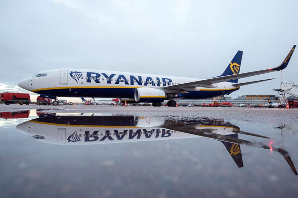 Zukünftig öfter am Boden als in der Luft: eine Boeing 737-800 von Ryanair