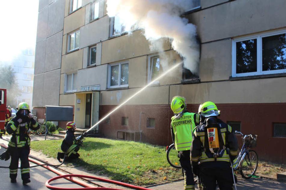 Bei einem Wohnungsbrand in Perleberg ist ein Mann ums Leben gekommen.