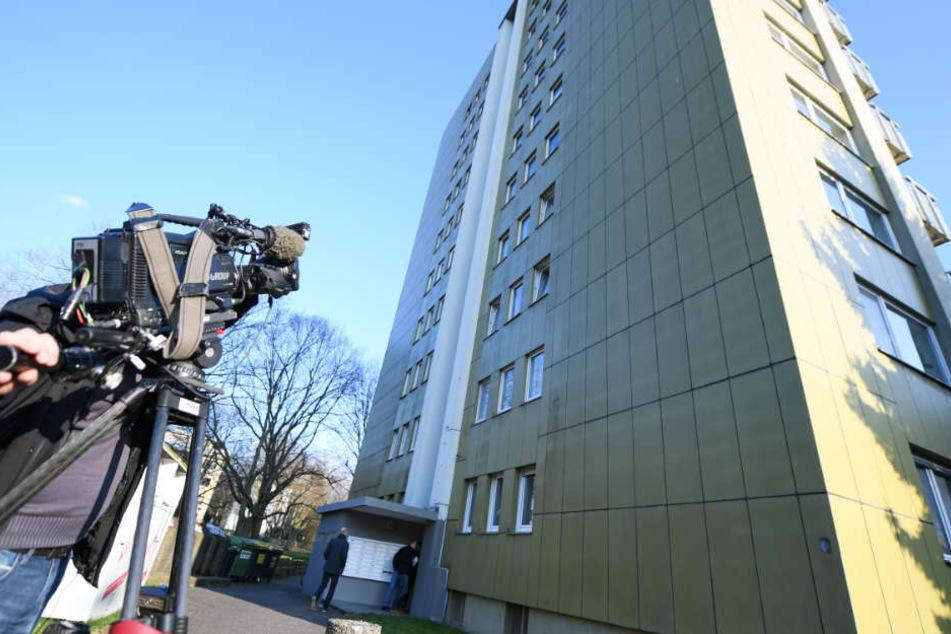 Der mutmaßliche Entführer wurde im März in diesem Hochaus in der Offenbacher Rhönstraße festgenommen.