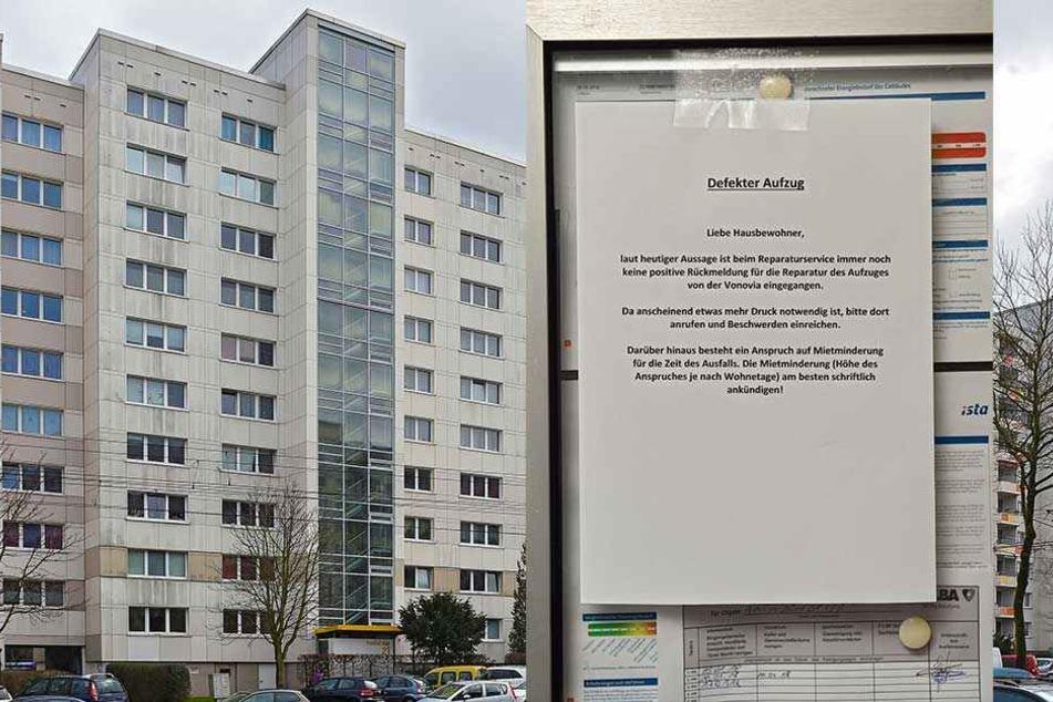 Kaputter Fahrstuhl macht Mieter zu Gefangenen im eigenen Hochhaus