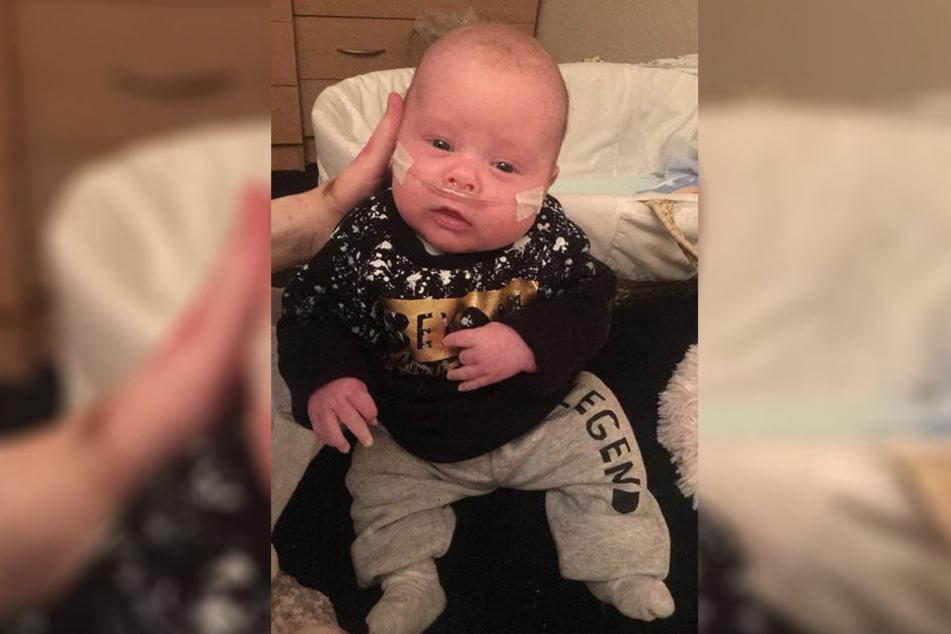 Baby Decan wurde mit nur einer Niere geboren.