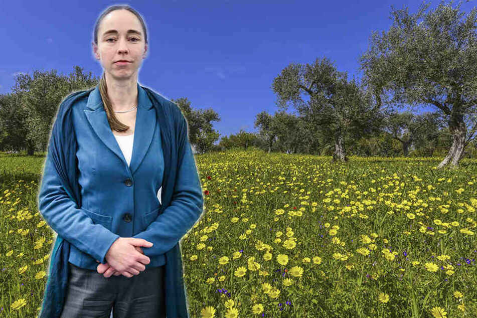 Gesundheitsbürgermeisterin Kristin Kaufmann (42, Linke) geht mit den Dresdnern Kräuter suchen.