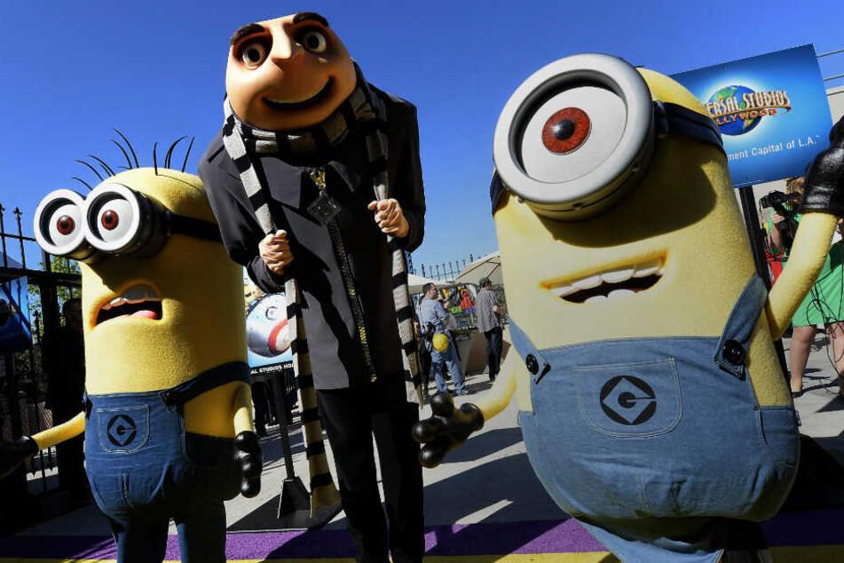 Echte Minions in Lebensgröße gab es 2014 zur Premiere in Hollywood zu bestaunen.