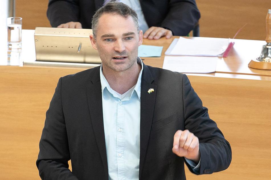 Mit Abstand auf Platz drei: Sebastian Wippel (35, AfD).