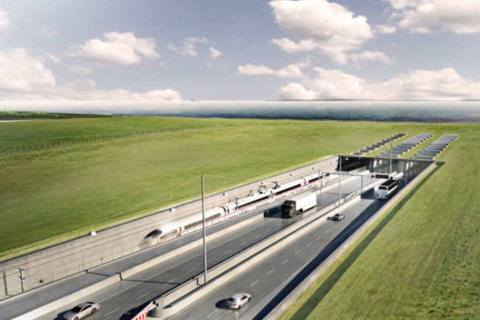 Die grafische Visualisierung zeigt, wie der geplante Tunnel einmal aussehen soll.