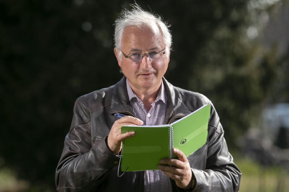 Mathematiker und Wolfs-Experte: Christoph Egert (68) ist auch Jagdprüfer und Schweißhundführer.
